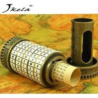 [Jkela] Leonardo da Vinci juguetes educativos Metal Cryptex cerraduras regalo ideas regalo de vacaciones de Navidad para casarse amante escapar cámara