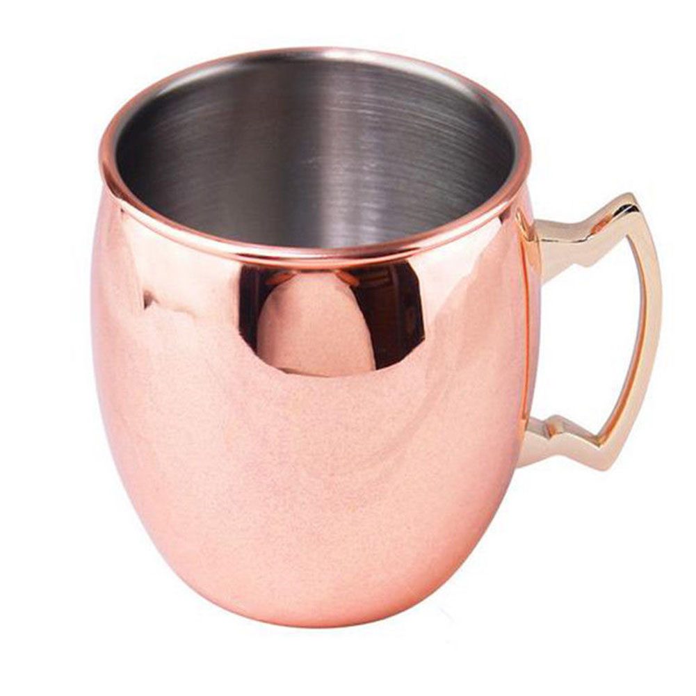 Drinkware Coffee Mule Mugs Drinking Cups With Handles Fabala Glossy Restaurant Stainless Steel Wine Copper-plated Simple 530ml