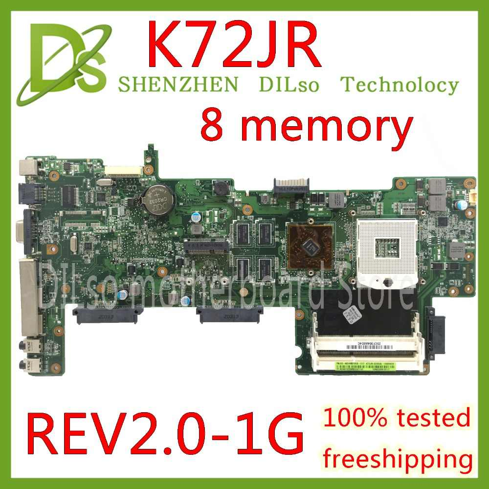 Kefu K72jr Motherboard Fur Asus K72jt K72jk K72ju K72j X72j Laptop Motherboard Rev 2 0 8 Speicher Pm Test Arbeit 100 Aliexpress