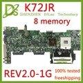 KEFU K72JR материнская плата для Asus K72JT K72JK K72JU K72J X72J материнская плата для ноутбука REV 2 0 8 memory PM тестовая работа 100%