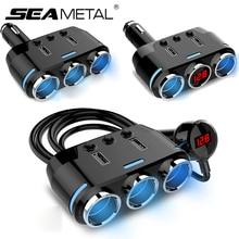12 V-24 V автомобильный разветвитель прикуривателя Plug светодиодный USB Зарядное устройство адаптер 3.1A 100 W обнаружения для телефона MP3 DVR аксессуары