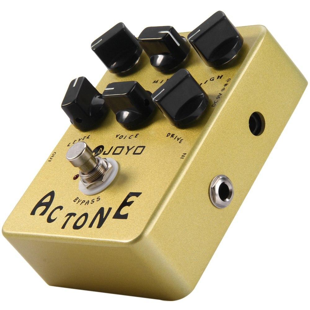 True Bypass Design AC Tone Vox Amp Simulator Electric Guitar Effect Pedal Classic British Rock Sound Reproduces AC30 Amplifier