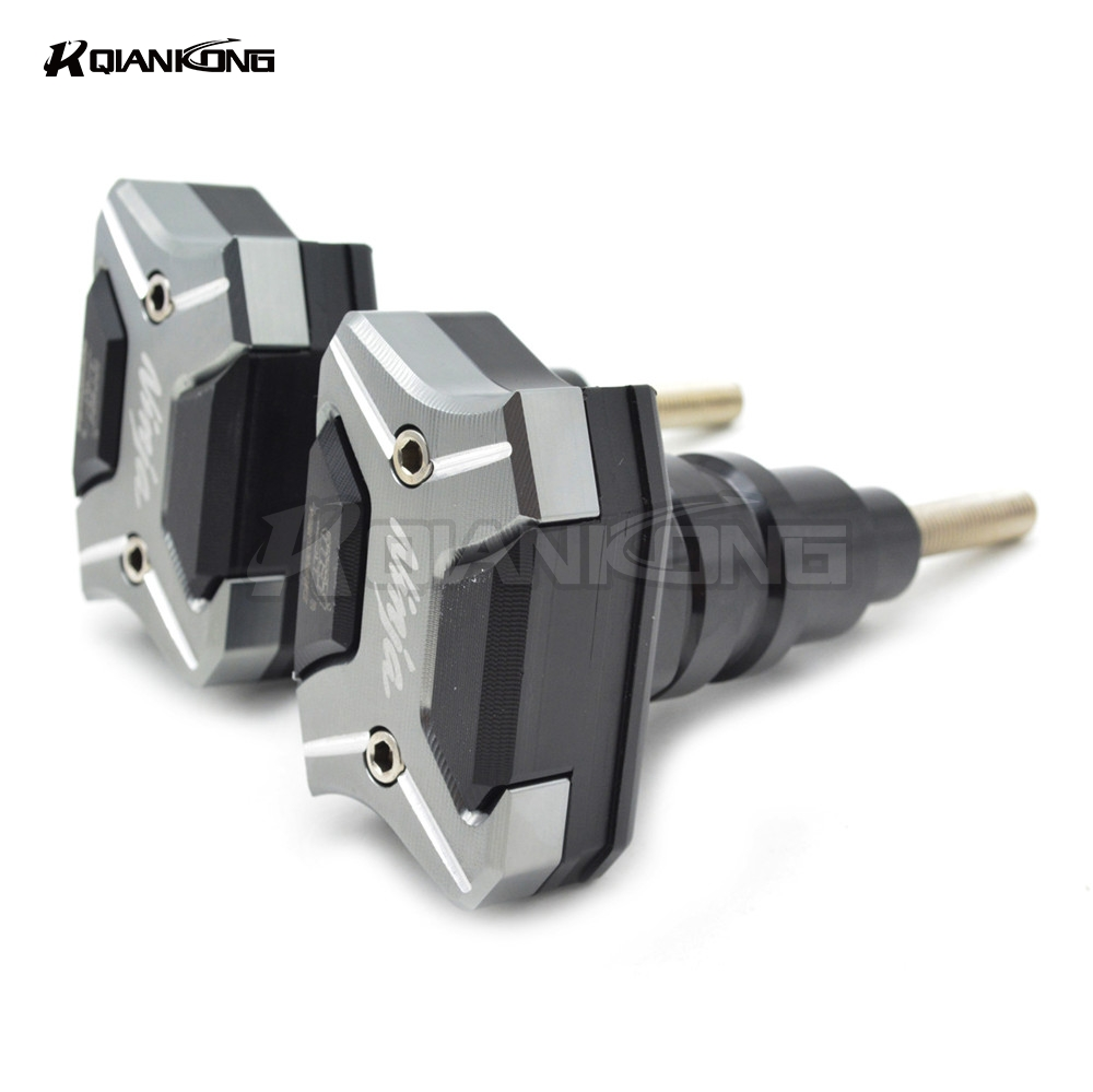 CNC Motorcycle Frame Sliders Crash Engine Guard Pad Aluminium Side Shield Protector For Kawasaki Ninja ZX6R ZX636 2013-2017 motorcycle frame sliders crash engine guard pad aluminium side shield protector for kawasaki ninja zx6r 636 2005 2006