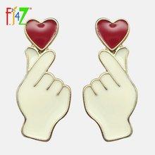 Женские серьги с сердечками fj4z гвоздики в виде красного масляного