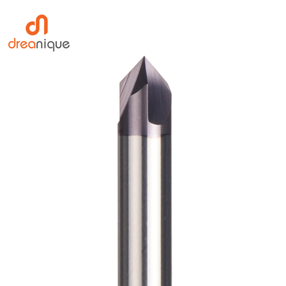Image 3 - CNC carbide Chamfering milling cutter 60 90 120 degree coated 3 flutes deburring end mill engraving and carving router bit-in Milling Cutter from Tools