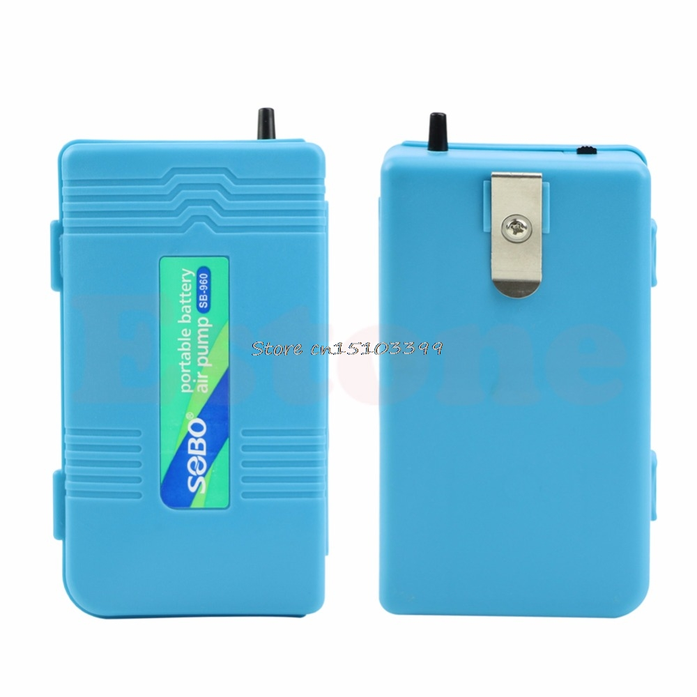 New Portable Battery Air Pond Powered Pump Oxygen Backup For Aquarium Fish Tank Drop Ship