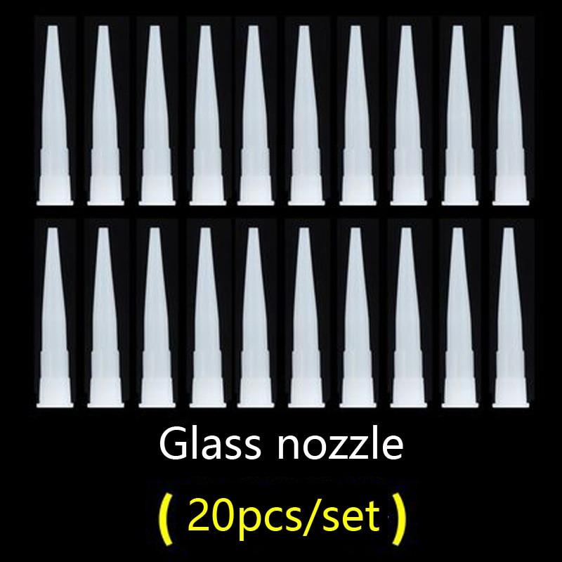 Caulking Nozzle Plastic Glass Plastic Glue Nozzle Structural Glue Nozzle Epoxy Silicone Tube Soft Rubber Cartridge Accessories