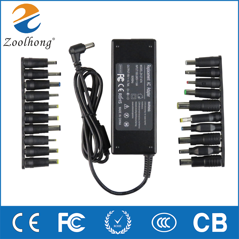 Zoolhong 19V 4.74A 90W Laptop AC Universal Power Adapter Charger for Acer ASUS DELL Thinkpad Lenovo Sony Toshiba Samsung Laptop de li bao 19v 4 74a 5 5 x 2 5mm laptop ac adapter for asus lenovo toshiba hp black 100 240v