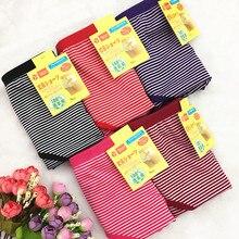 Ropa interior de algodón a rayas para mujer, bragas de talla grande 6XL, lencería, lote de 10 unidades