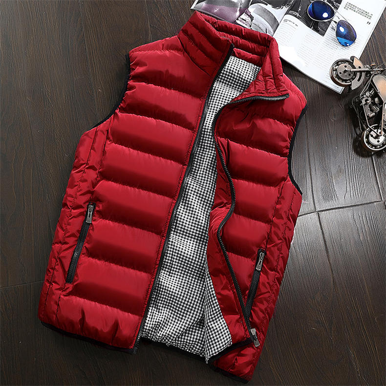 Vest Men 2019 Spring Autumn Male Sleeveless Jacket Coat Lovers Stylish Padded Down Vest Men Waistcoat Brand Cloths Plus Size 5XL 21