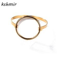 accessories wholesale Minimalism wind circular Ring fashion bangle bracelet Fashion han edition hollow out circle bracelet FF885