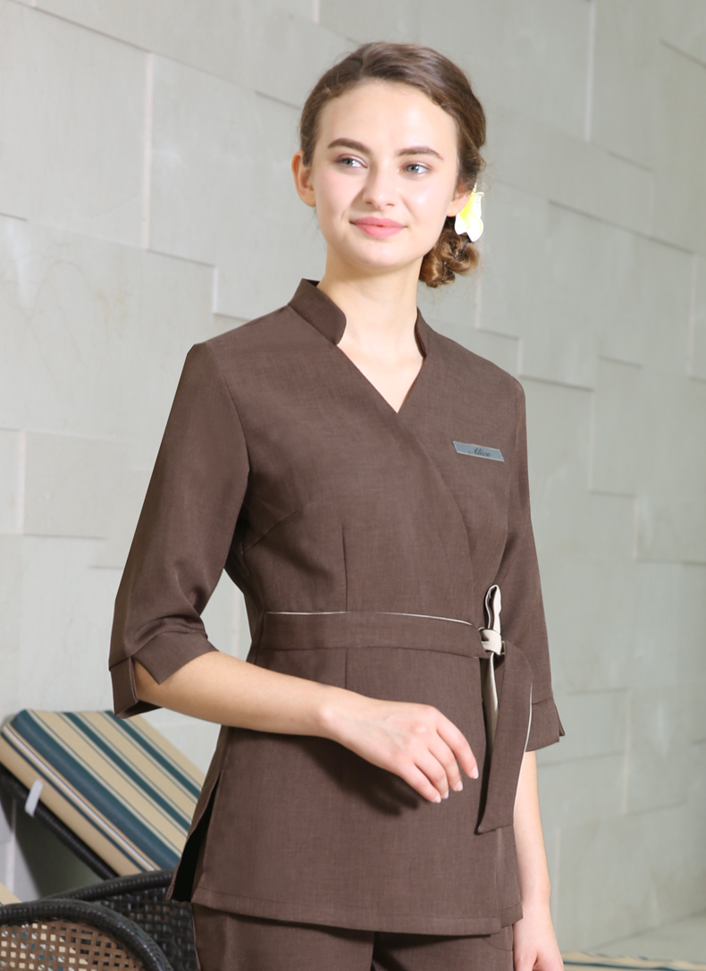 Buy 2018 real women new summer women 39 s for Spa uniform photos