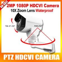 10X de Zoom Óptico Lente Motorizado Giratorio HD Bala PTZ CVI Cámara de 2MP A Prueba de agua, visión nocturna del IR 80 m, Pan/Tilt de Rotación Coaxial