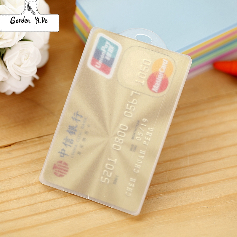 цена New 2018 Plastic card case holder Bank Credit Card Holders Bus ID Holders Identity Badge with Transparent Card buy two get one