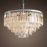 Винтаж люстры светодио дный светодиодное освещение современный кристалл Люстра В Форме Призмы свет люстры де cristal для жизни обеденная дома