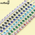 Hot Sell Fashion Silver Color Jewelry Multi Color Stones White Austrian Crystal Chain-Link Bracelet length 18+3cm For Women