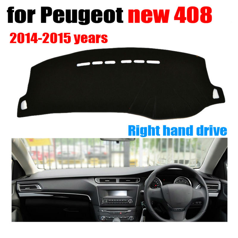 Car dashboard covers mat for Peugeot new 408 2014 2015 years Right hand drive dashmat pad dash cover auto accessories