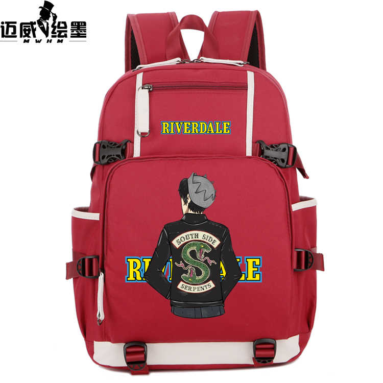 cdaeacba33 ... NEW Riverdale South Side Serpents Backpack men women Shoulder travel  School Backpacks teenagers baby Girl Casual ...