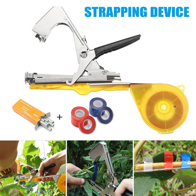 Newly Vine Branch Tying Tape Tie Stapler Tools Kit Plant Vegetable Nursery Prune XSD88