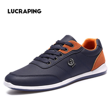 New 2017 Men Shoes Lace Up Designer Spring Autumn Fashion Men Casual Shoes Outdoor Male Footwear For Men Black Blue RMC-210