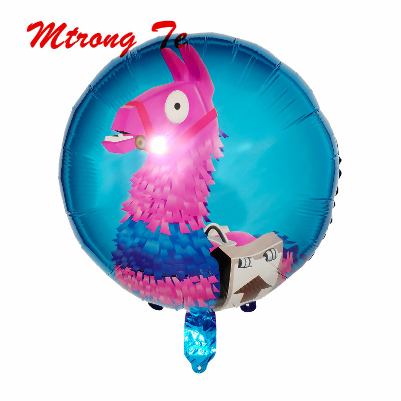 50pcs 18inch Llama Alpaca Pinata Foil Helium Balloons Unicorn Party Balloon Baby Shower Globos Birthday Party Decorations Toys