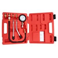 A0011 Benzinemotor Compressie Tester Automotive Test Combinatie Kit 0 ~ 300psi Auto Druk Tester