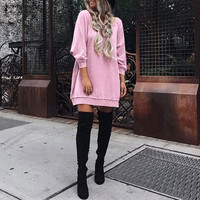 Oversized Pregnant Women Casual Loose Hoodies Sweatshirts 2018 Pregnancy Long Sleeve Pullover Tops   Maternity   Clothings Plus Size
