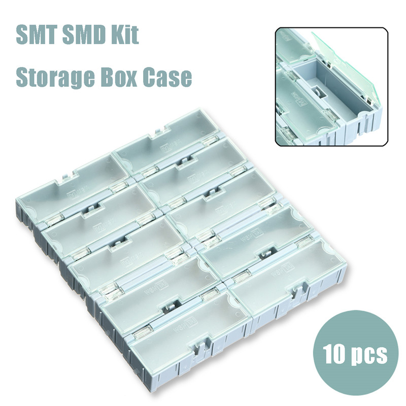 TMOEC 10Pcs SMT Kit Storage Box Case SMD Kit Lab Chip Components Screw Container Storage Boxes Electronic Case KitTMOEC 10Pcs SMT Kit Storage Box Case SMD Kit Lab Chip Components Screw Container Storage Boxes Electronic Case Kit