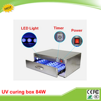 New LY UV curing box oven machine 84W 110V 220V with 6 rows 60 LED lights