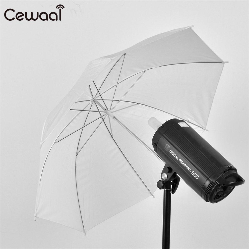 "Cewaal Durable Camera 33"" 83cm Translucent White Reflective soft Umbrella Photography Light Photo Studio Video Flash Diffuser"