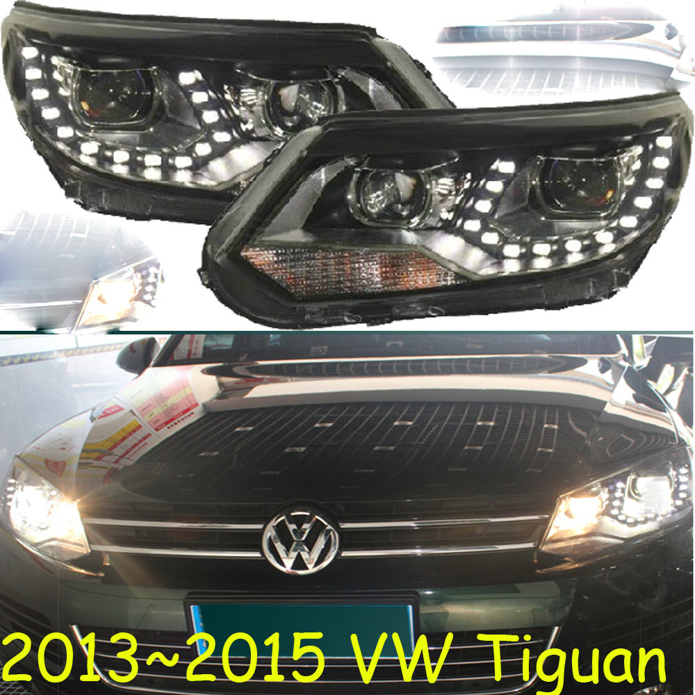 HID,2013~2015,Car Styling for Tiguan Headlight,sharan,Golf6,routan,saveiro,polo,passat,magotan,Tiguan head lamp tiguan taillight 2017 2018year led free ship ouareg sharan golf7 routan saveiro polo passat magotan jetta vento tiguan rear lamp