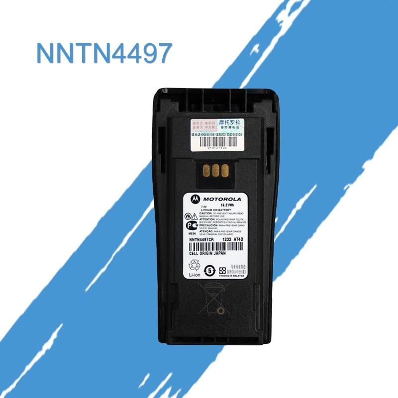 General MOTOROLA Walkie Talkie 2200MAh Lithium Battery + Belt Clip For Gp3188 Gp3688 Cp340 Cp360 Cp380 Pr400 Radios NNTN4497