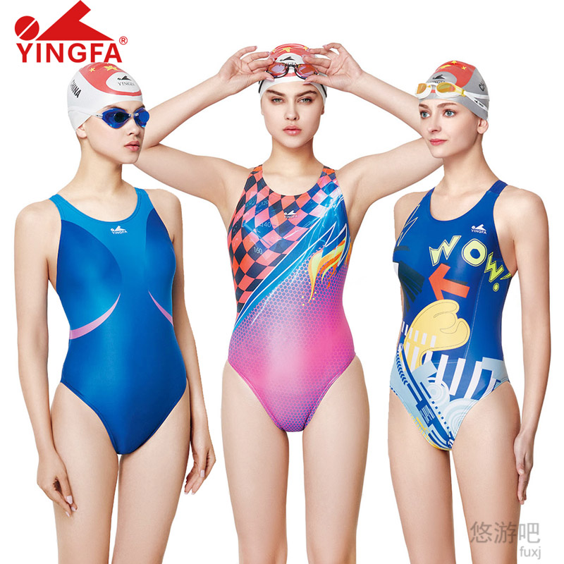 Yingfa 2018 Professional Lady Swimwear One Piece Women Swimsuit Sports Racing Competition Leotard Bodybuilding Girl Bathing Suit