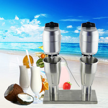 Stainless Steel Double Heads Milk Shake Machine Milk Mixer Commercial US Plug