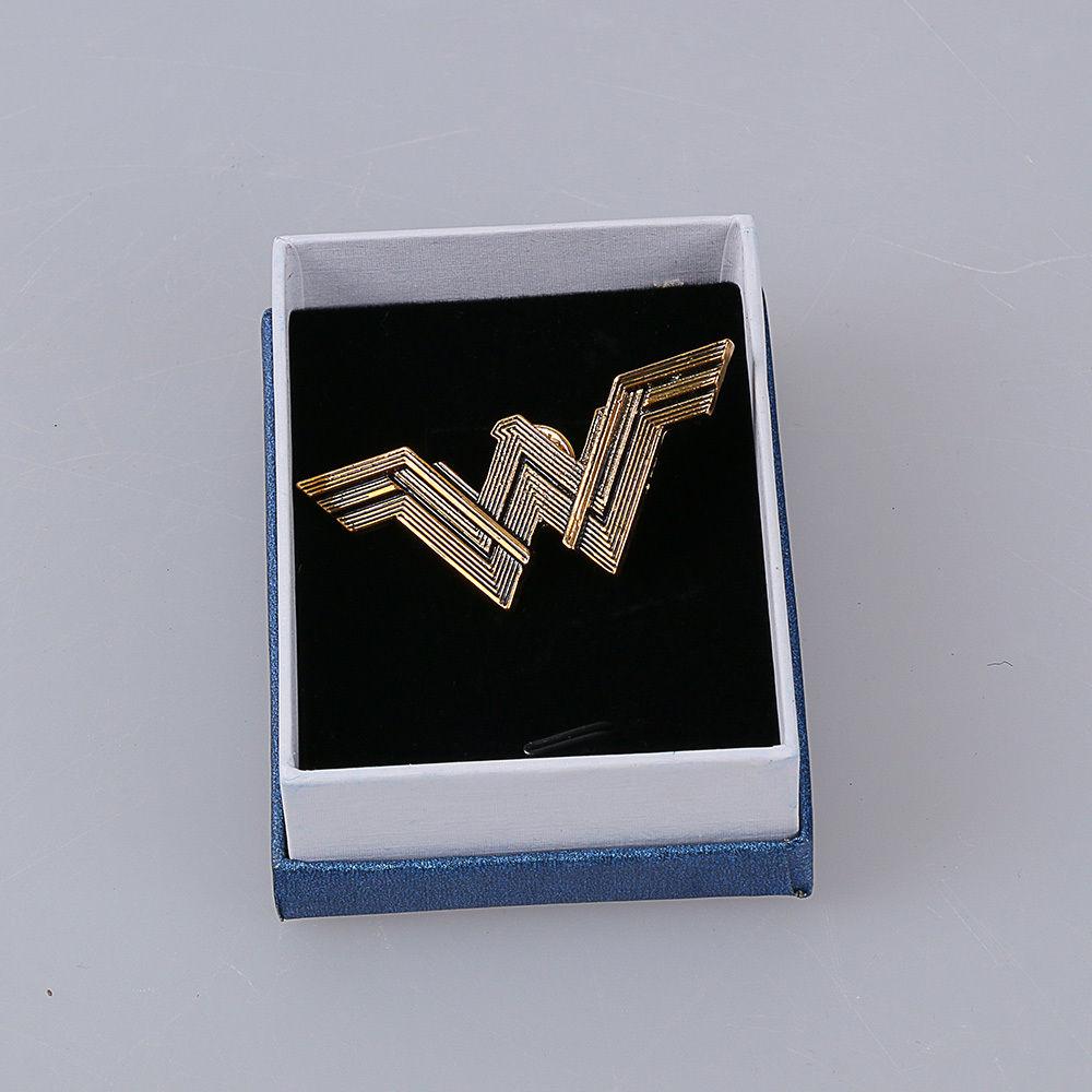 New Justice League Badge Wonder Woman Logo Metal Pin Cosplay Props  6