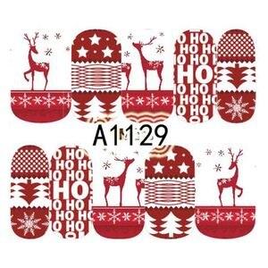 Image 5 - 1シートクリスマス雪の花ネイルステッカーフルラップ水転写ステッカーネイルアートデカールマニキュアスタイリングツールBEA1187