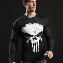 Men Marvel Superhero 3D Compression Tights T Shirt