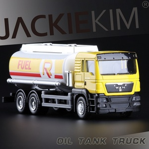 Image 2 - High Simulation RMZ city 1:64 Alloy Truck Car Model Oil Tank Truck Model Fast Fruious For Kids Christmas Gifts Collection Toys