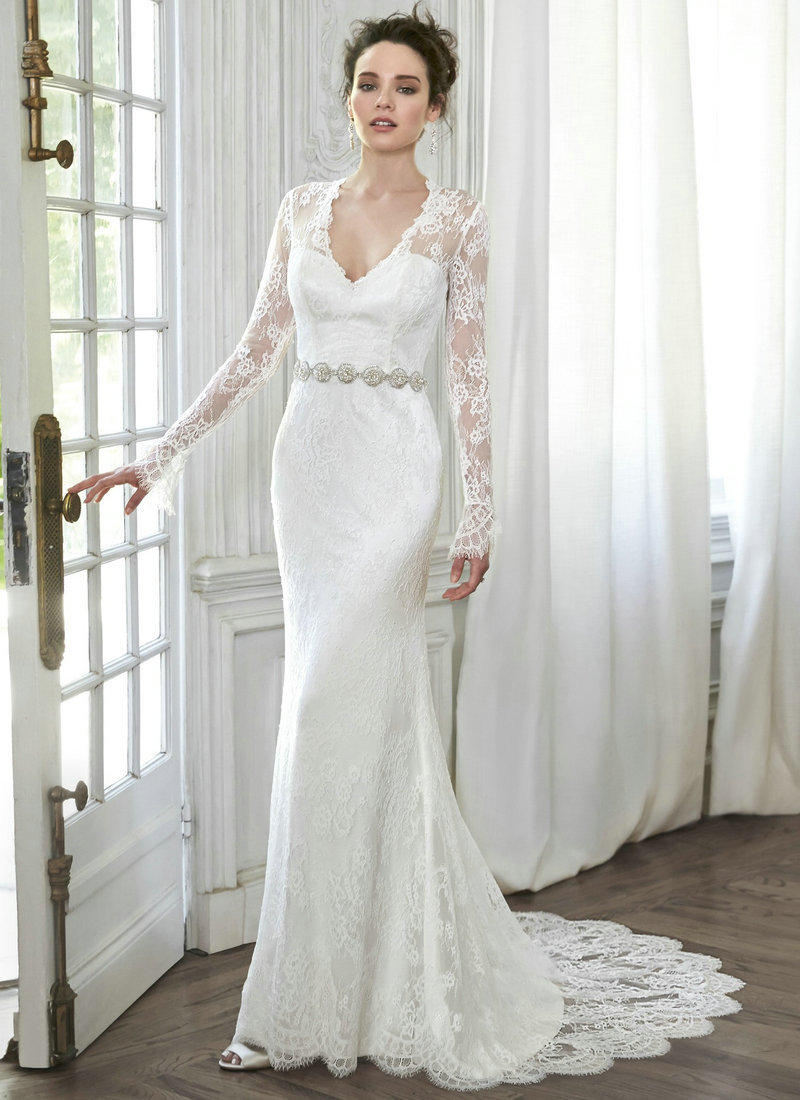 Compare Prices on Lace Sleeve Wedding Dress Sheath- Online ...