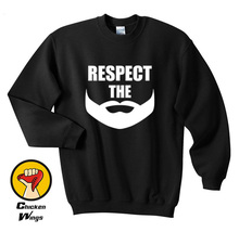 цена Father Day Shirt Beard Shirt Husband Gift Respect The Beard Fathers day Gift Husband Top Crewneck Sweatshirt Unisex More Colors  онлайн в 2017 году