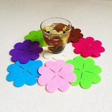 50 шт разноцветные подставки из войлока с лазерной резкой