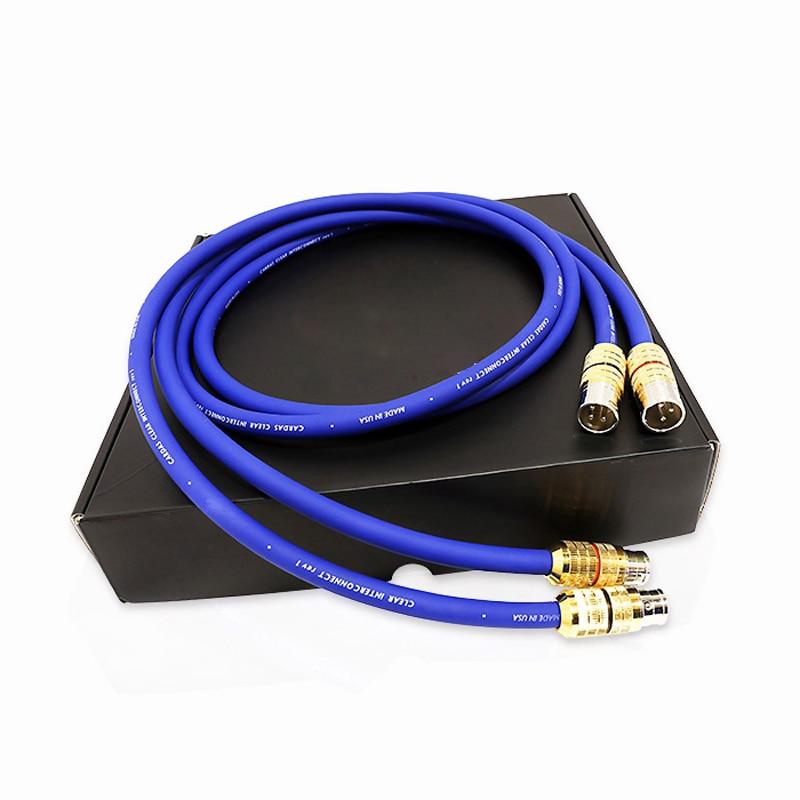 Livraison gratuite Cardas lumière claire interconnexion câble XLR à XLR connecteur prise