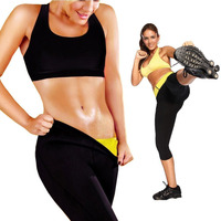 Hot Sweat Neoprene Shapers Slimming Pants Thigh Cincher Girdle Sport Gym Trousers For Women