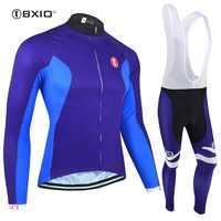 BXIO hommes hiver polaire drôle cyclisme maillots ensembles Raiders Jersey extérieur cyclisme vêtements Pro équipe Ropa Ciclismo BX-0109B093