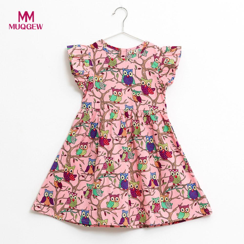 kids dresses for girls Kids Infant Toddle Floral Cartoon Sleeveless Clothes Princess Dress robe pour fille meninas se vestem