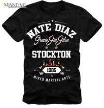 Mens Fashion E1Syndicate Nate Diaz T Shirt Conor Mc Gregor Nick S 3Xl Black Short Sleeve Man Tee Tops