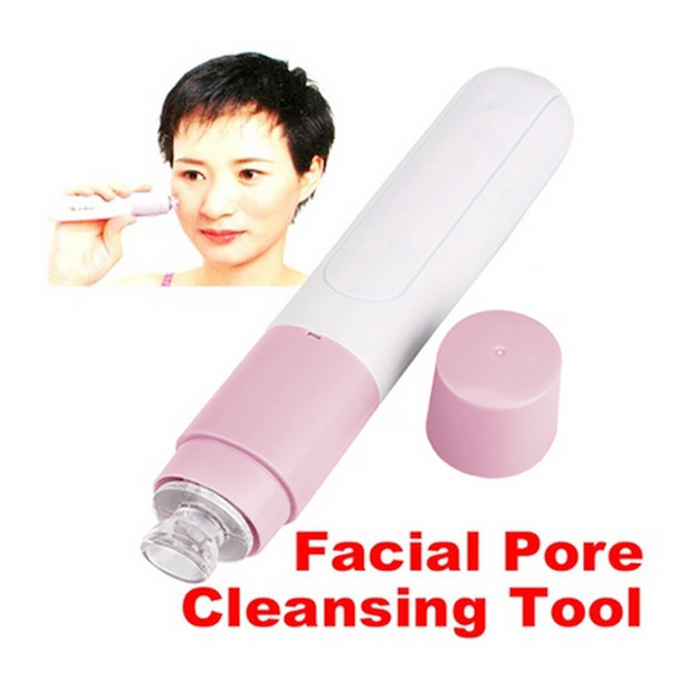 1Pc Pink fashion mini Cleaner Vacuum Suction Facia Blackhead Removal Skin Care Cleansing Tool face Care P# dropship
