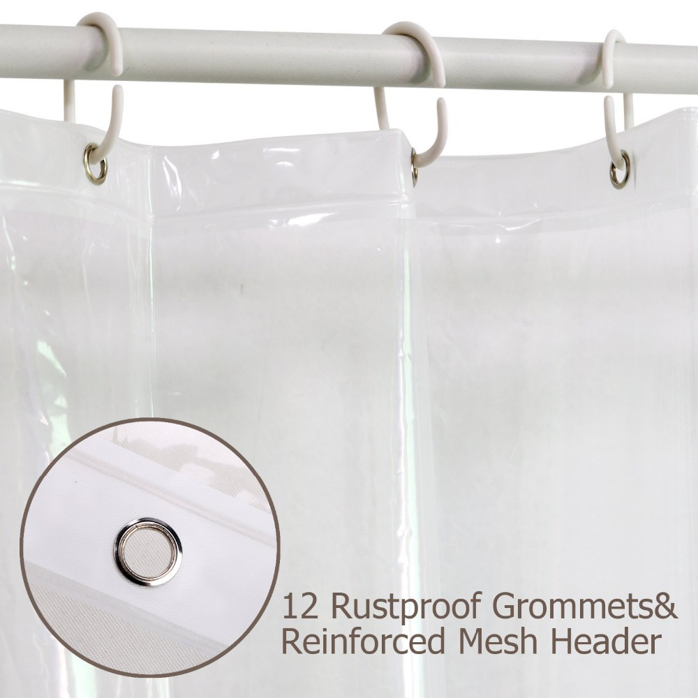 Aliexpress Buy FeiQiong Brand Clear Shower Curtain Liner 72x72 Waterproof Mildew Resistant For The Bathroom 12 Metal Grommets And Hooks From