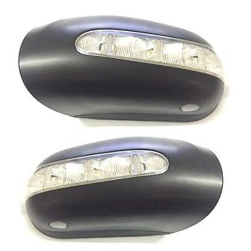 1 Pair Car Left & Right Side Mirror Housing for Mercedes W220 W215 S430 S500 S600 CL500 1 pair for 92 02 mercedes w220 s320 s430 s500 w215 led mirror turn signal light smoke