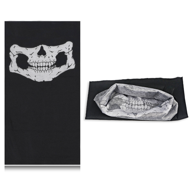 Bicycle Ski Motor Bandana Motorcycle Face Mask Skull For Motorcycle Riding Scarf Women Men Scarves Scary Windproof Face Shield 5